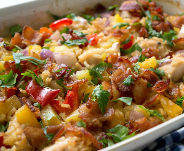 Aloha Pineapple Chicken Rice Casserole
